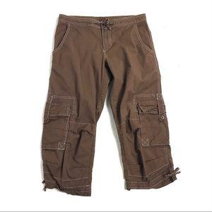 Prana xs  pants brown khaki cargo side pockets